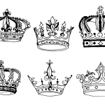 6 Crown Drawing (PNG Transparent)