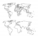 World Map Drawing (PNG Transparent)