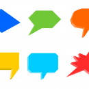 3D Speech Bubble (PNG Transparent)