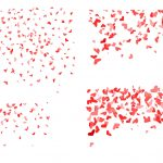 4 Heart Confetti Background (PNG Transparent)