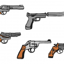 5 Comic Pistol (PNG Transparent)