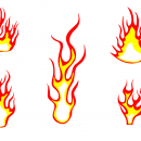 5 Fire Flame Clipart (PNG Transparent)