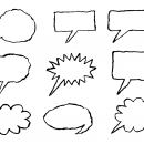 9 Hand Drawn Speech Bubble (PNG Transparent)