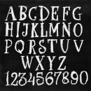 Chalk Alphabet Serif (PNG Transparent)