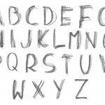 Graphite Doodle Alphabet (PNG Transparent)