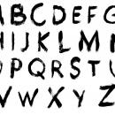Grunge Brush Stroke Alphabet (PNG Transparent)