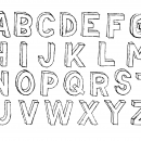 Hand Drawn Sketch 3D Alphabet (PNG Transparent)