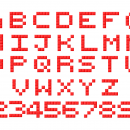 Pixel Alphabet (PNG Transparent)