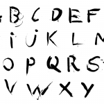 Spray Paint Alphabet (PNG Transparent)