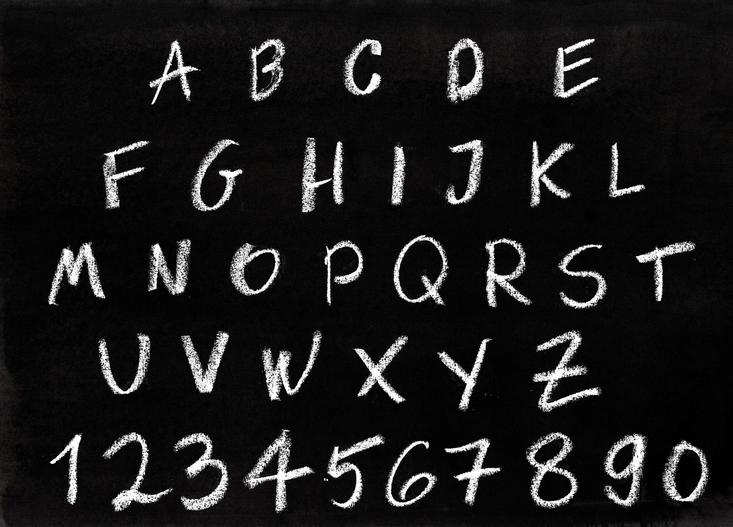chalk alphabet  png transparent