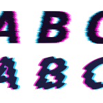 Distorted Glitch Alphabet Vector (PNG Transparent, SVG)