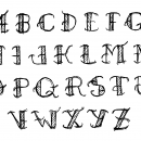 Hand Drawn Tattoo Style Alphabet Vector (PNG Transparent, SVG)