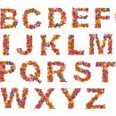Flower Alphabet (PNG Transparent)