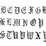Hand Drawn Gothic Calligraphy Alphabet (PNG Transparent)