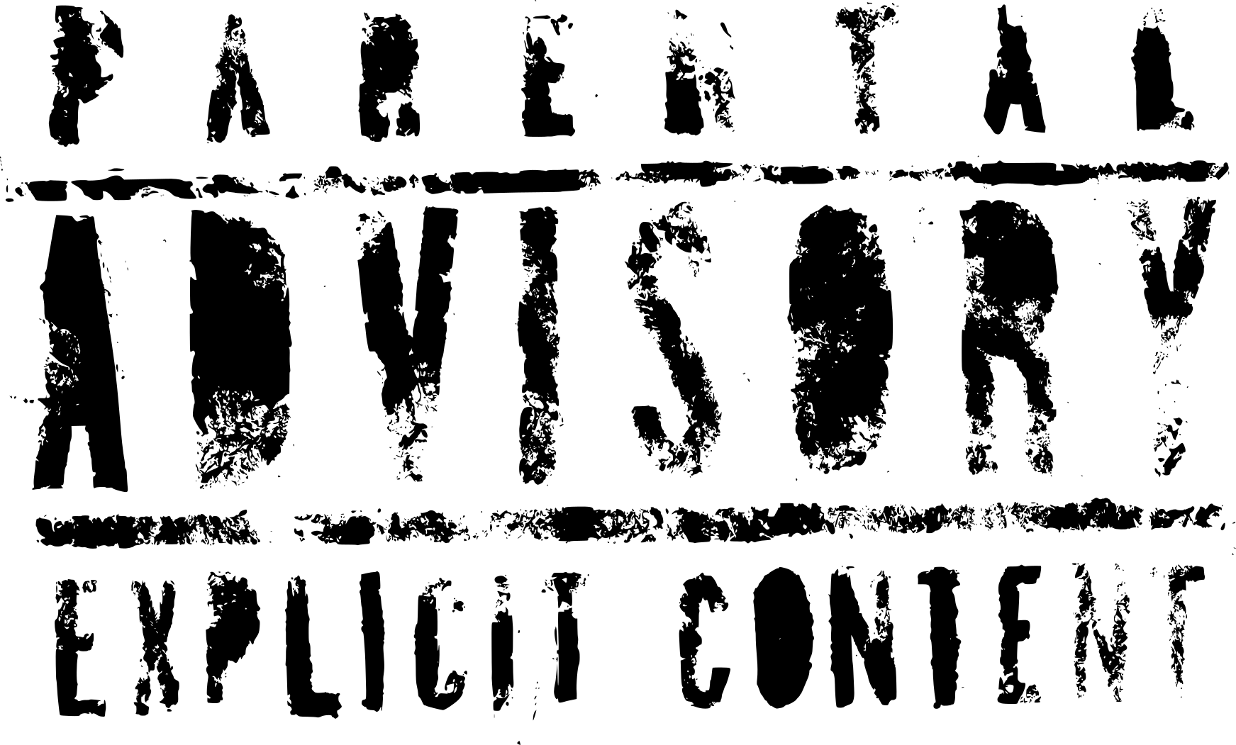 Transparent Background Parental Advisory Logo Png
