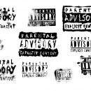 10 Grunge Parental Advisory Explicit Content (PNG Transparent)