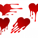 4 Heart Drip (PNG Transparent)