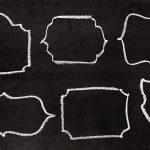 6 Chalk Simple Frame (PNG Transparent)