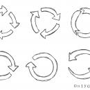 6 Circular Arrow Drawing (PNG Transparent)