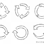 6 Circular Arrow Drawing (PNG Transparent)