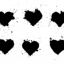 6 Heart Splatter (PNG Transparent)