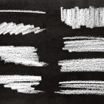 8 Chalk Stroke Banner (PNG Transparent)