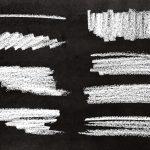 8 Chalk Stroke Banner (PNG Transparent)