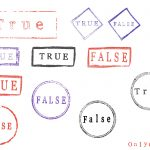 Grunge True False Stamp (PNG Transparent)