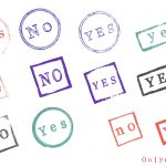 Grunge Yes No Stamp (PNG Transparent)