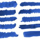 10 Dark Blue Watercolor Brush Stroke (PNG Transparent)