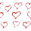 10 Red Grunge Brush Stroke Heart (PNG Transparent)
