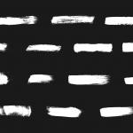 14 White Grunge Brush Stroke (PNG Transparent)