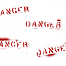4 Grunge Word Danger (PNG Transparent)