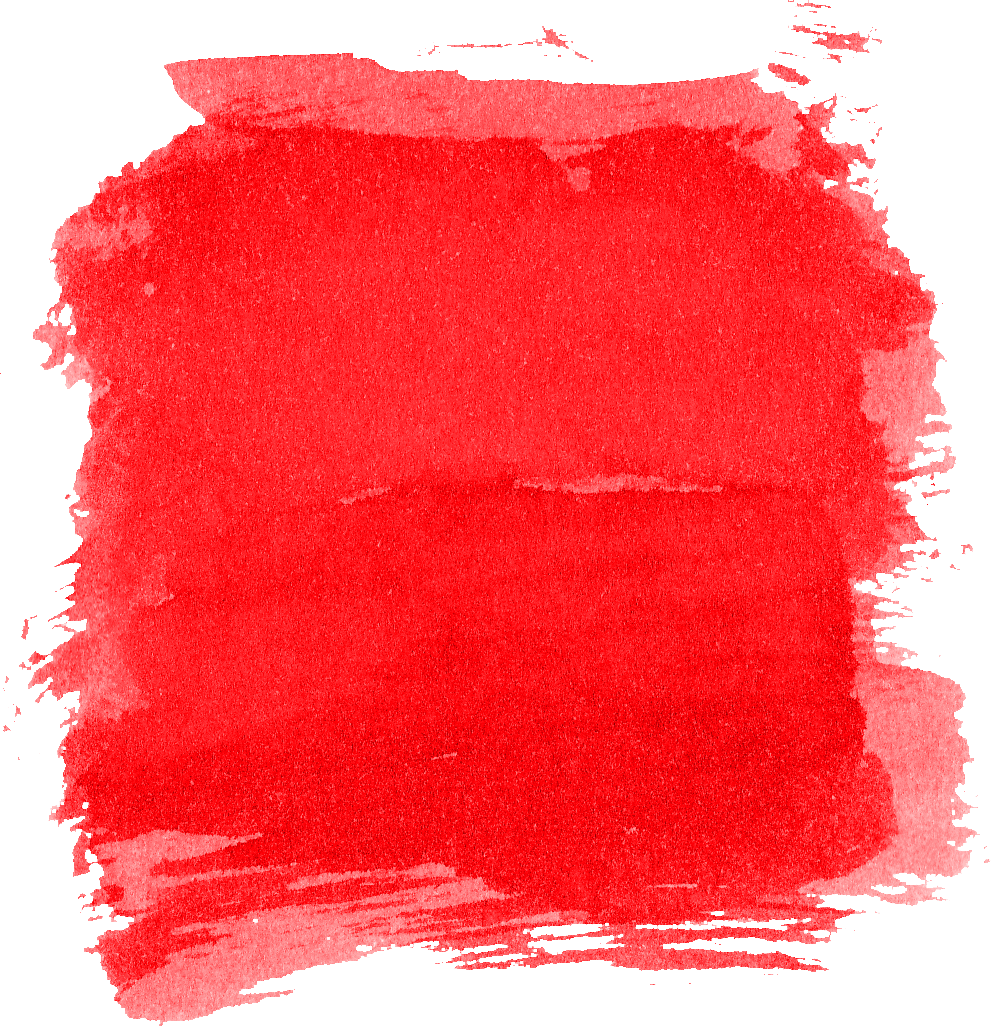 6 Red Watercolor Brush Stroke Square (PNG Transparent ...