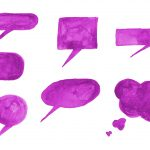 7 Purple Watercolor Speech Bubble (PNG Transparent)