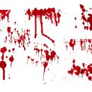 8 Blood Splatter Drip (PNG Transparent)