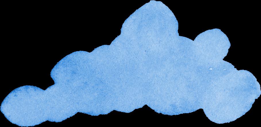8 Blue Watercolor Cloud (PNG Transparent) | OnlyGFX com