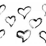 8 Grunge Brush Stroke Heart (PNG Transparent)