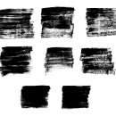 8 Grunge Brush Stroke Square (PNG Transparent)