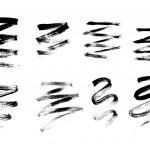 8 Grunge Brush Stroke Zig Zag (PNG Transparent)