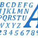 Blue Watercolor Alphabet Serif (PNG Transparent)