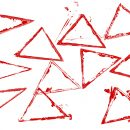 12 Empty Grunge Triangle Stamp (PNG Transparent)
