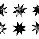 6 Grunge 8 Corner Star (PNG Transparent)