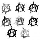8 Grunge Anarchy Symbol (PNG Transparent)