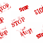 8 Grunge Word Stop (PNG Transparent)