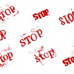 8 Grunge Word Stop (PNG Transparent)