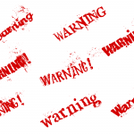 8 Grunge Word Warning (PNG Transparent)