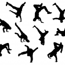 10 Break Dance Silhouette (PNG Transparent)