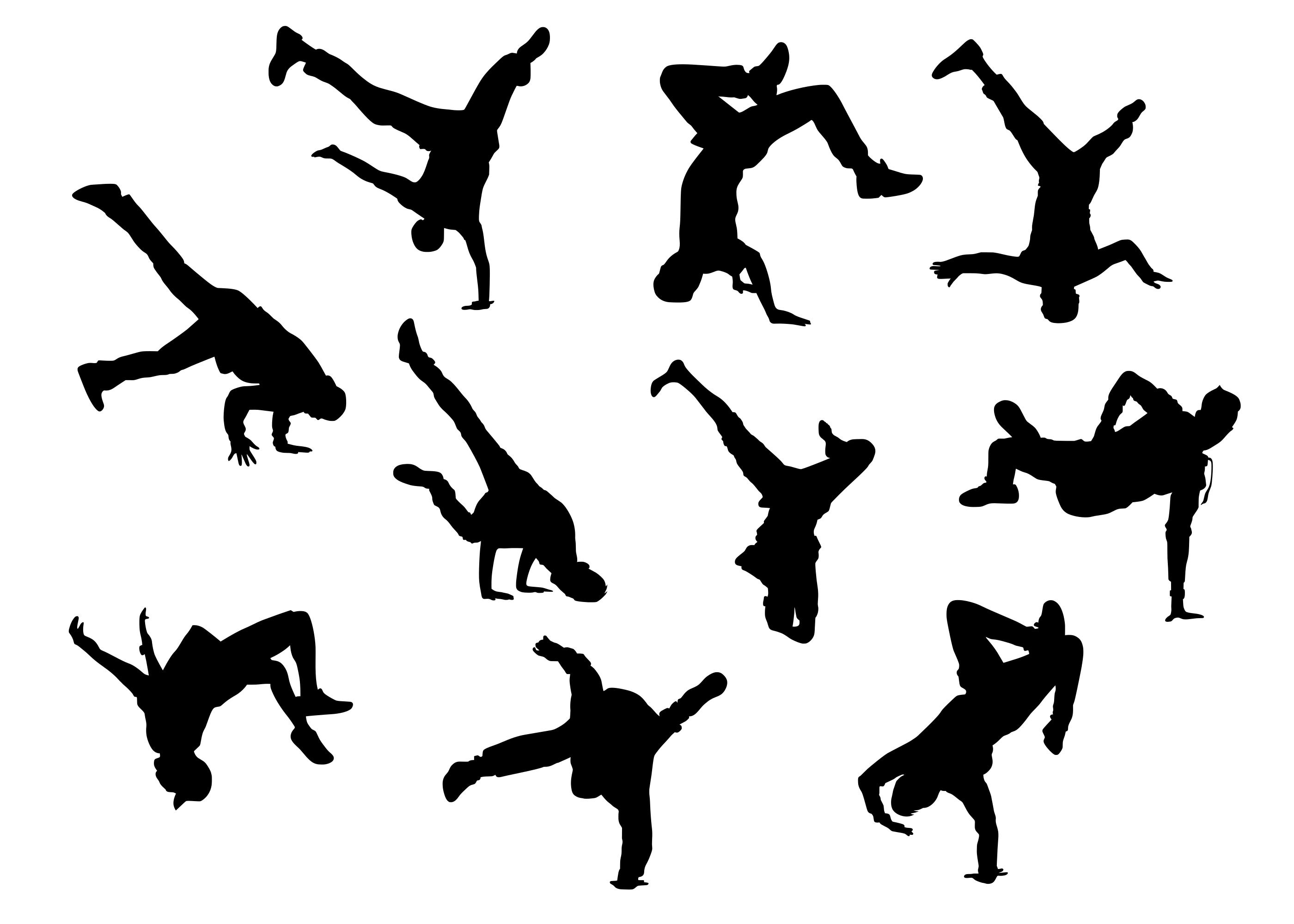 10 Break Dance Silhouette Png Transparent Onlygfx Com