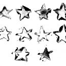 10 Grunge Stamp Star (PNG Transparent)